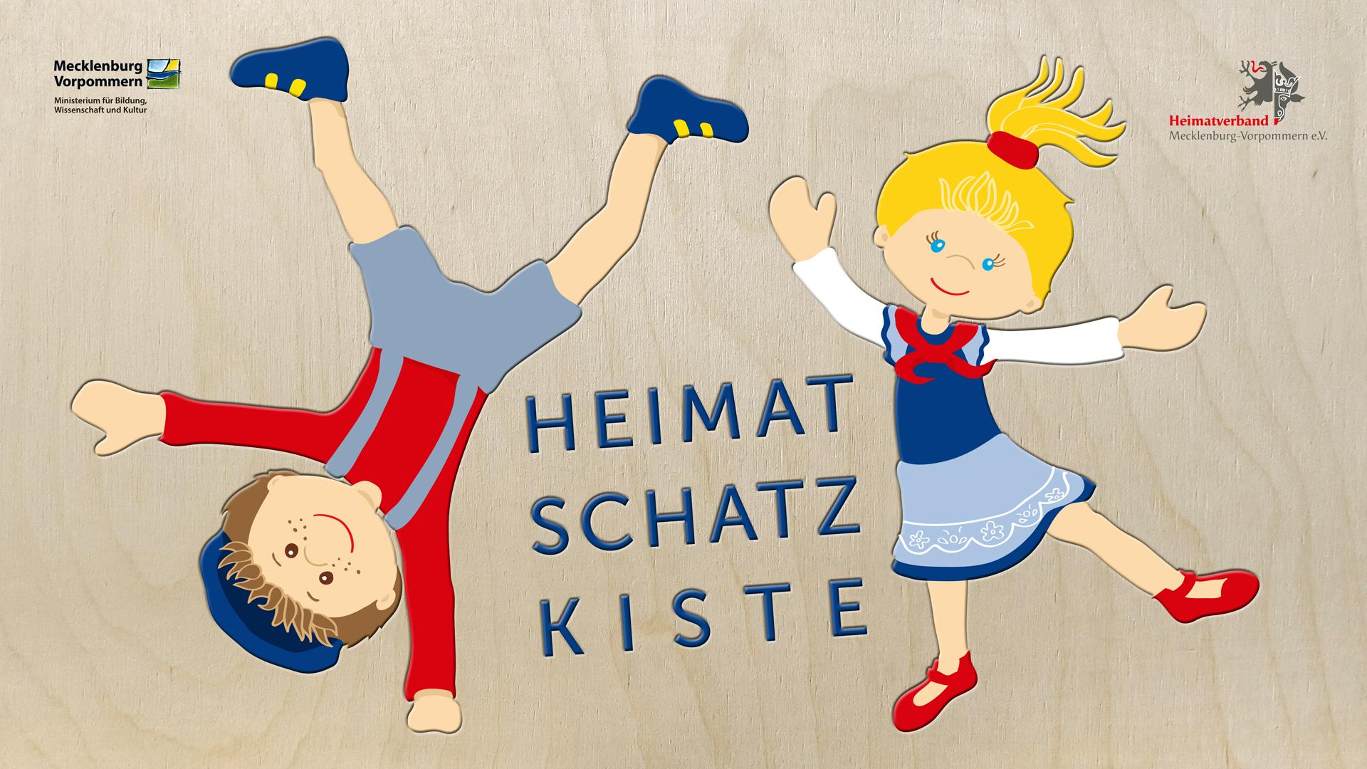 Steffi Meyer von P-67 Industries illustrierte die zwei Hauptfiguren der Heimatschatzkiste.