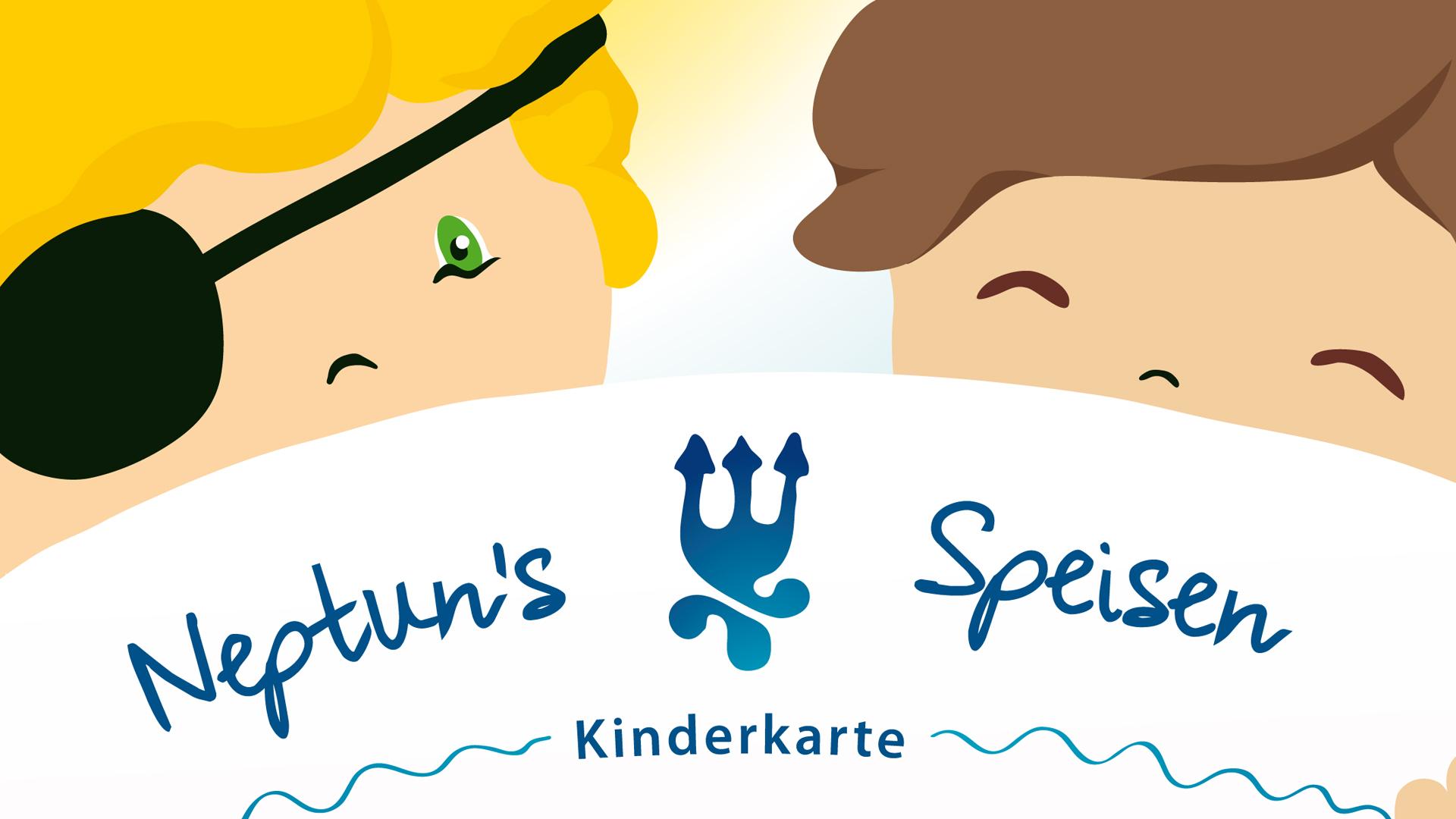 P-67 gestaltete und illustrierte die neue Kinderspeisekarte für das Hotel Neptun aus Warnemünde