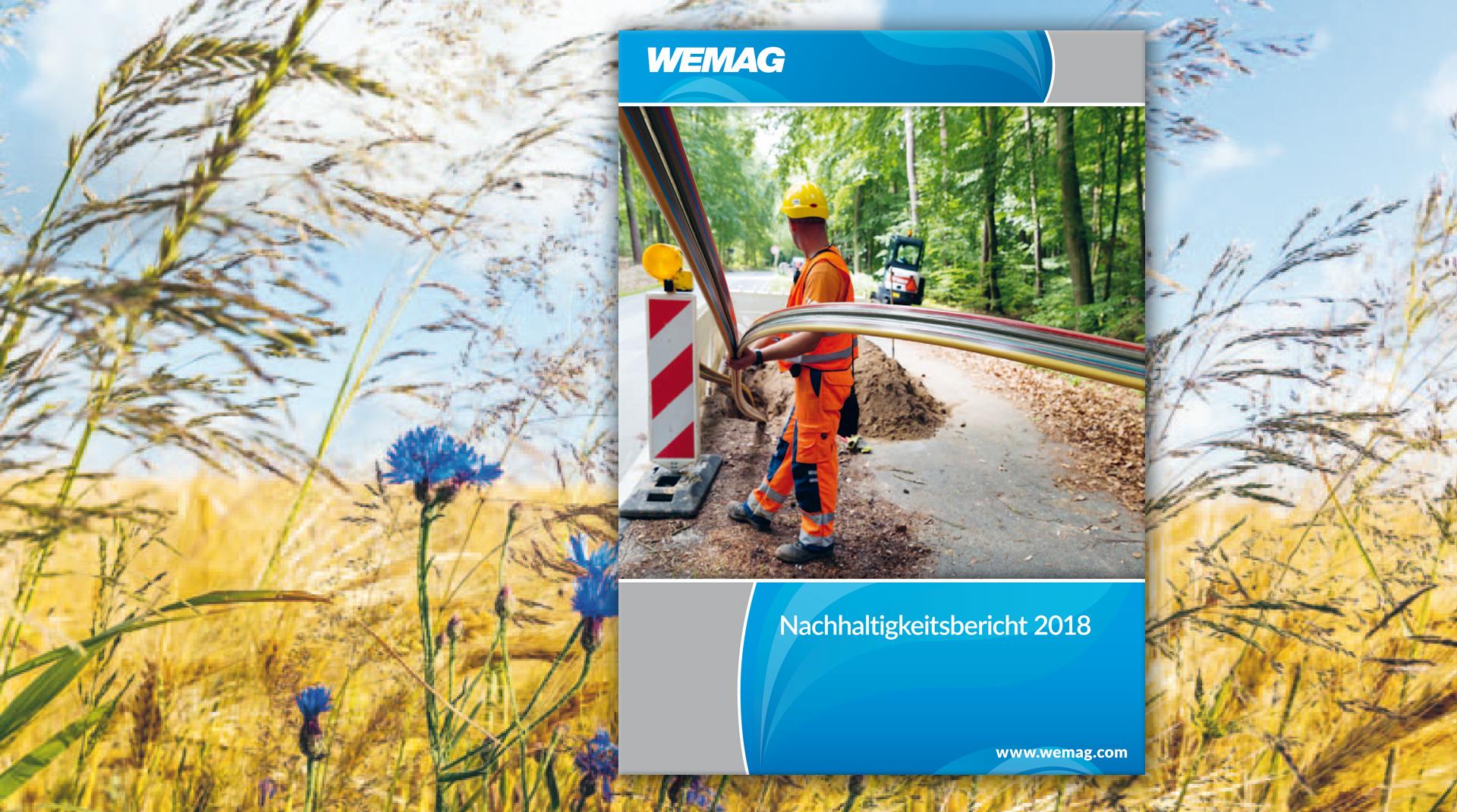 Titel-Design des WEMAG AG Nachhaltigkeitsbericht 2018