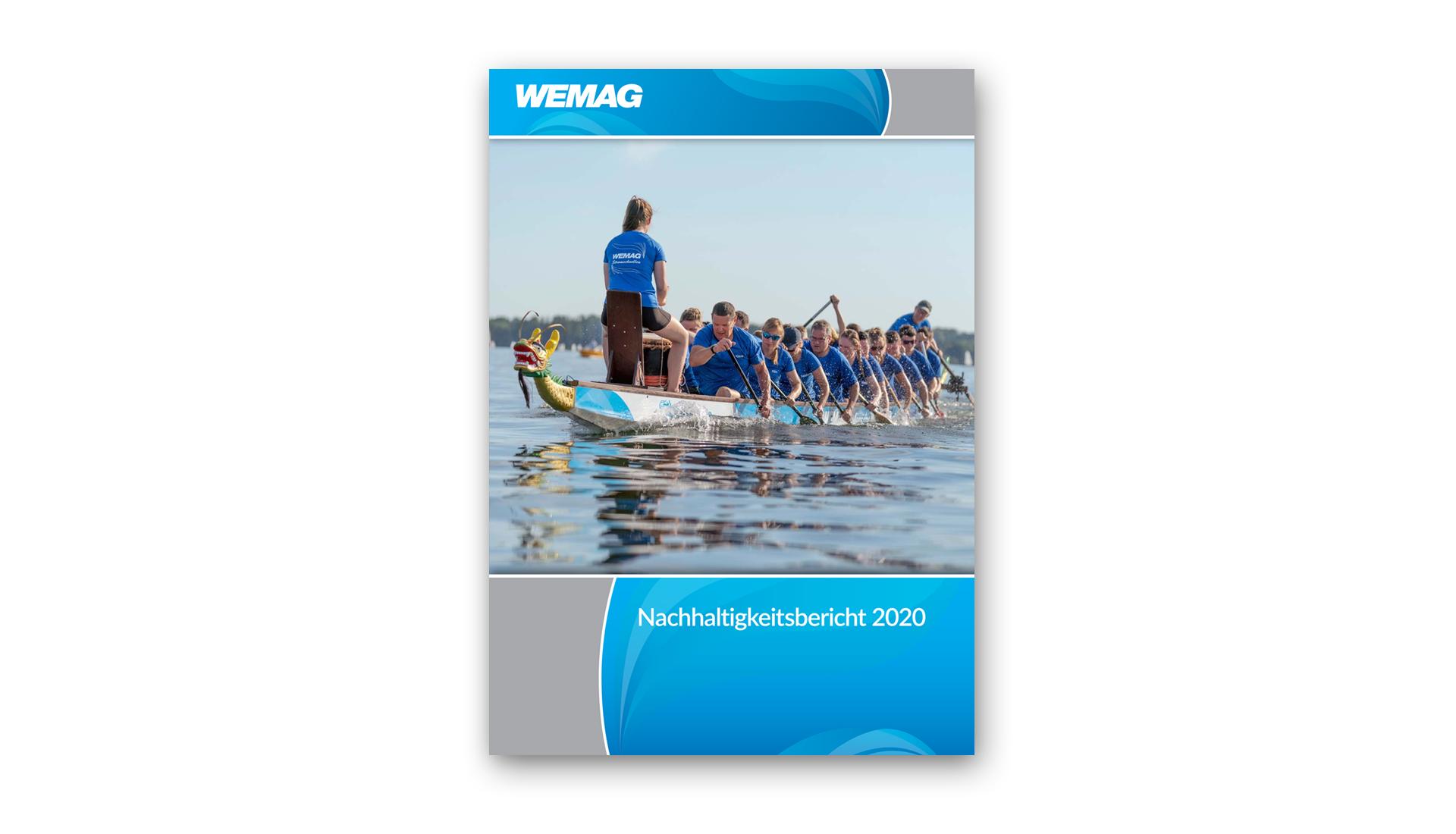 Design des Titels des Nachhaltigkeitsberichts 2020 der WEMAG AG