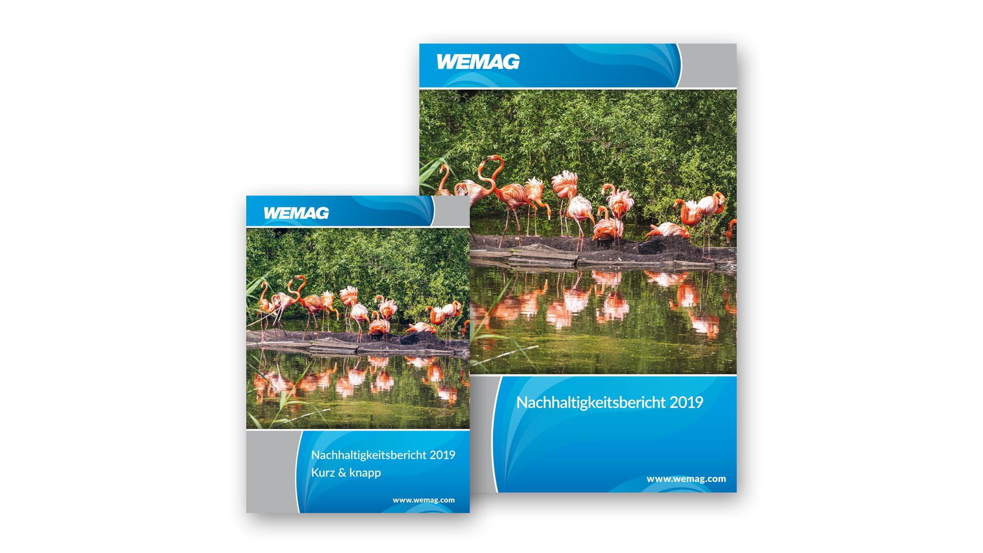 Titel des Nachhaltigkeitsberichts 2019 und des Kurzberichts der WEMAG AG